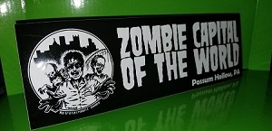 Haunted: Halloween '86 Possum Hollow Zombie Capital of the World Bumper Sticker