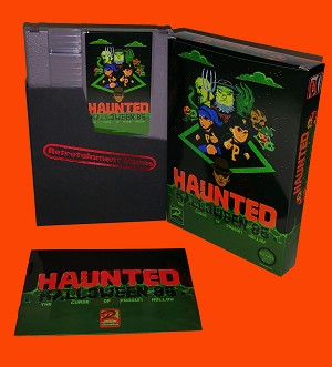 Haunted: Halloween '86 (The Curse Of Possum Hollow) NES Game (CIB - Classic Gray Cartridge)