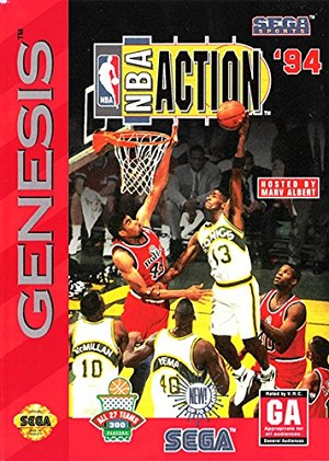 NBA Action '94 - Sega Genesis Video Game