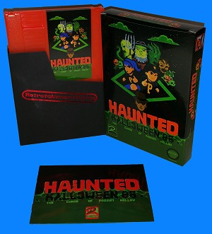 Haunted: Halloween '86 (The Curse Of Possum Hollow) NES Game (CIB - Pumpkin Orange Cartridge)