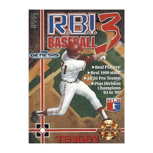 RBI Baseball 3 - Sega Genesis Video Game