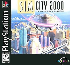 Sim City 2000 - PS1 Video Game