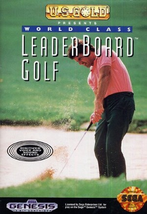 World Class Leaderboard Golf - Sega Genesis Video Game