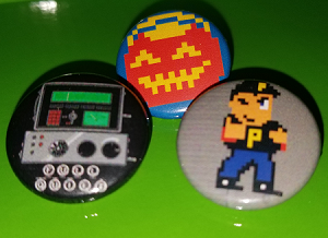 Retrotainment Games Button Set of 3 Haunted: Halloween 86, 85 & Full Quiet