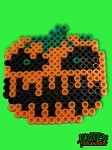 Evil Pumpkin Haunted: Halloween 85 Retro Perler Art Figure Magnet