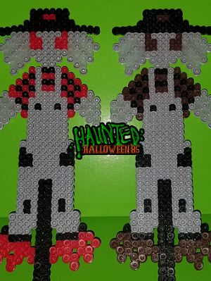 The Twins (Scarecrows) Haunted: Halloween 85 Retro Perler Art Figure Magnet Set of 2
