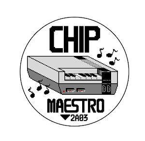"Chip Maestro NES Piano 1"" Pin"