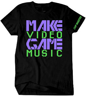 Chip Maestro Make Video Game Music T-Shirt