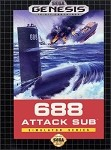 688 Attack Sub - Sega Genesis Video Game