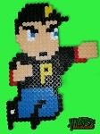 Donny Johnston Haunted: Halloween 85 Retro Perler Art Figure Magnet