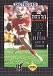 Sports Talk Football - Sega Genesis Video Game